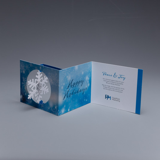 FlashPoint Marketing Uses the Snowflake Spinner Holiday Card to Show Appreciation to Its Customers