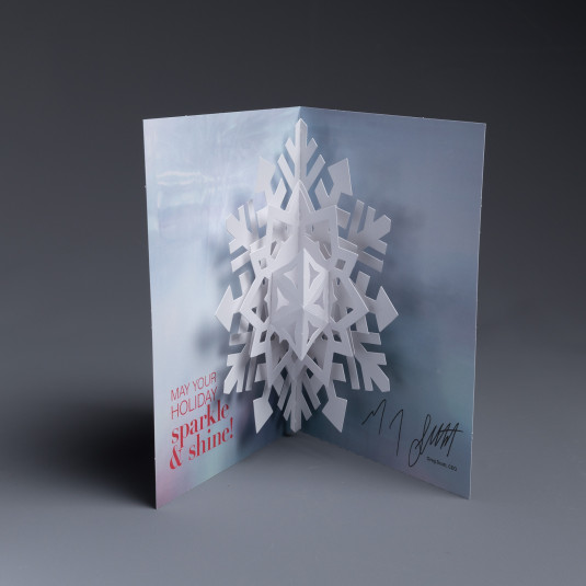 New York and Company Uses the Pop Up Snowflake as a Holiday Card