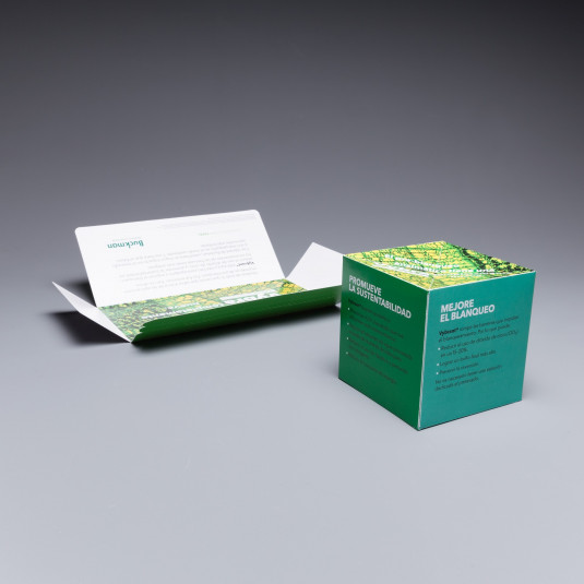 "Blankenship Creative for Buckman uses 4.25"" Pop Up Cube to Introduce New Chemicals"