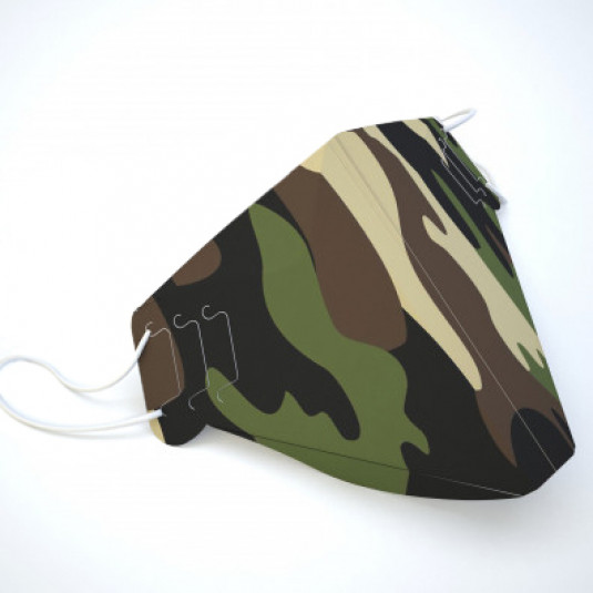 Green Camo Face Cover