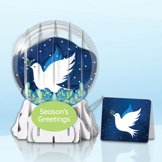 "Peace for All 3"" Globe Greeting Card"