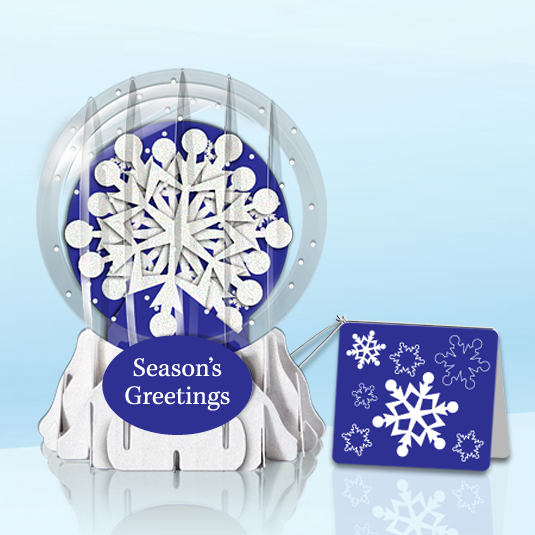 "Let it Snowflake 3"" Globe Greeting Card"