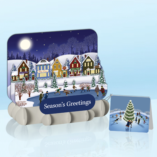 Quaint Winter Village StandOut Greeting Card