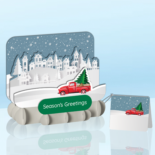 Snow Covered Benches Standout Greeting Card