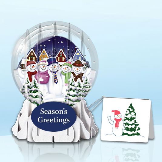 "Snowmen 3"" Globe Greeting Card"