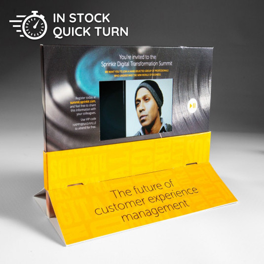 Sprinklr Uses the Pop Display Video Brochure to Encourage Customers to Register for A Technology Summit