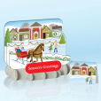 Sleigh Ride Standout Greeting Card