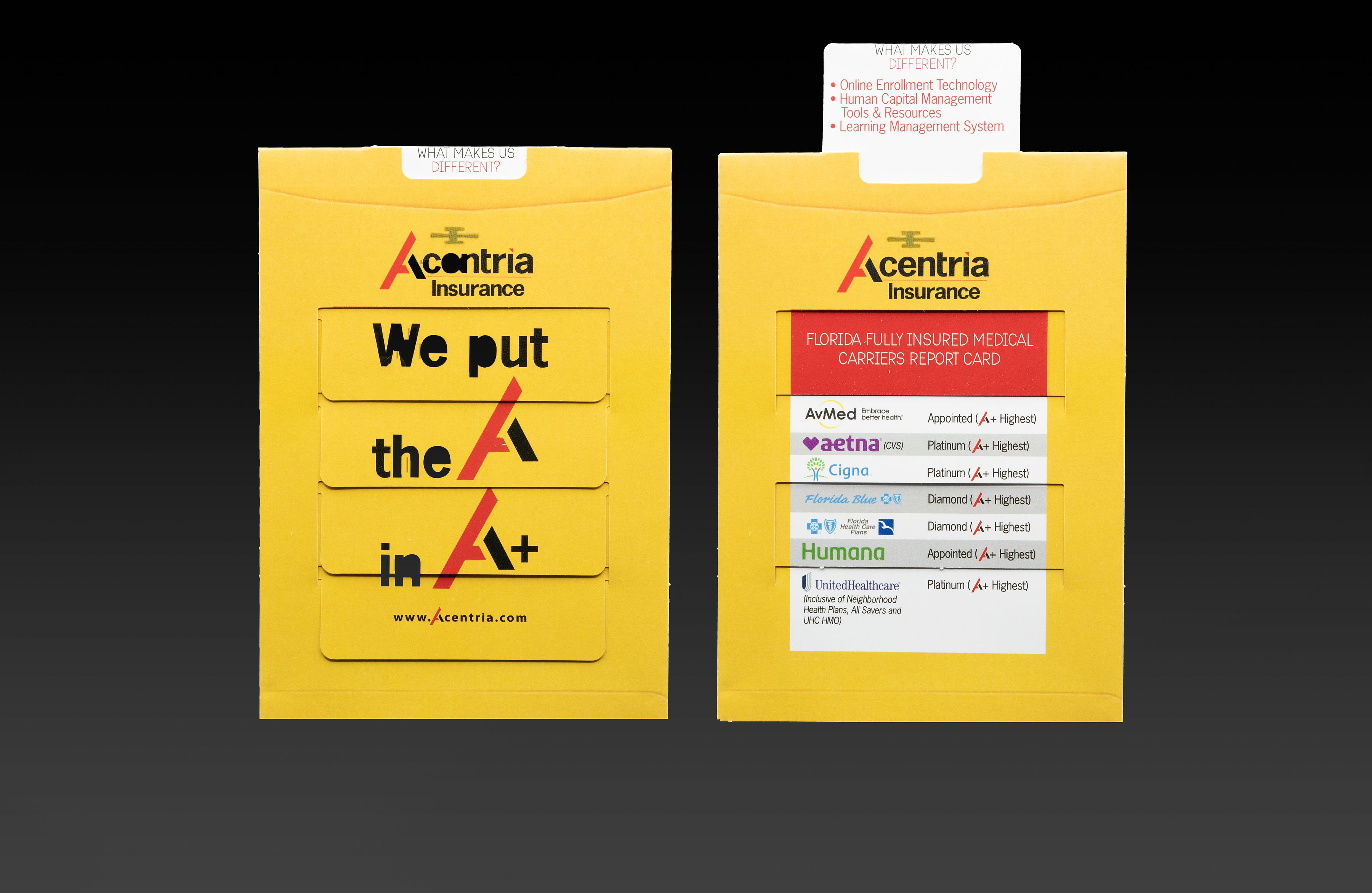 Acentria Insurance Wanted to Deliver a Direct Mail Piece with Staying Power