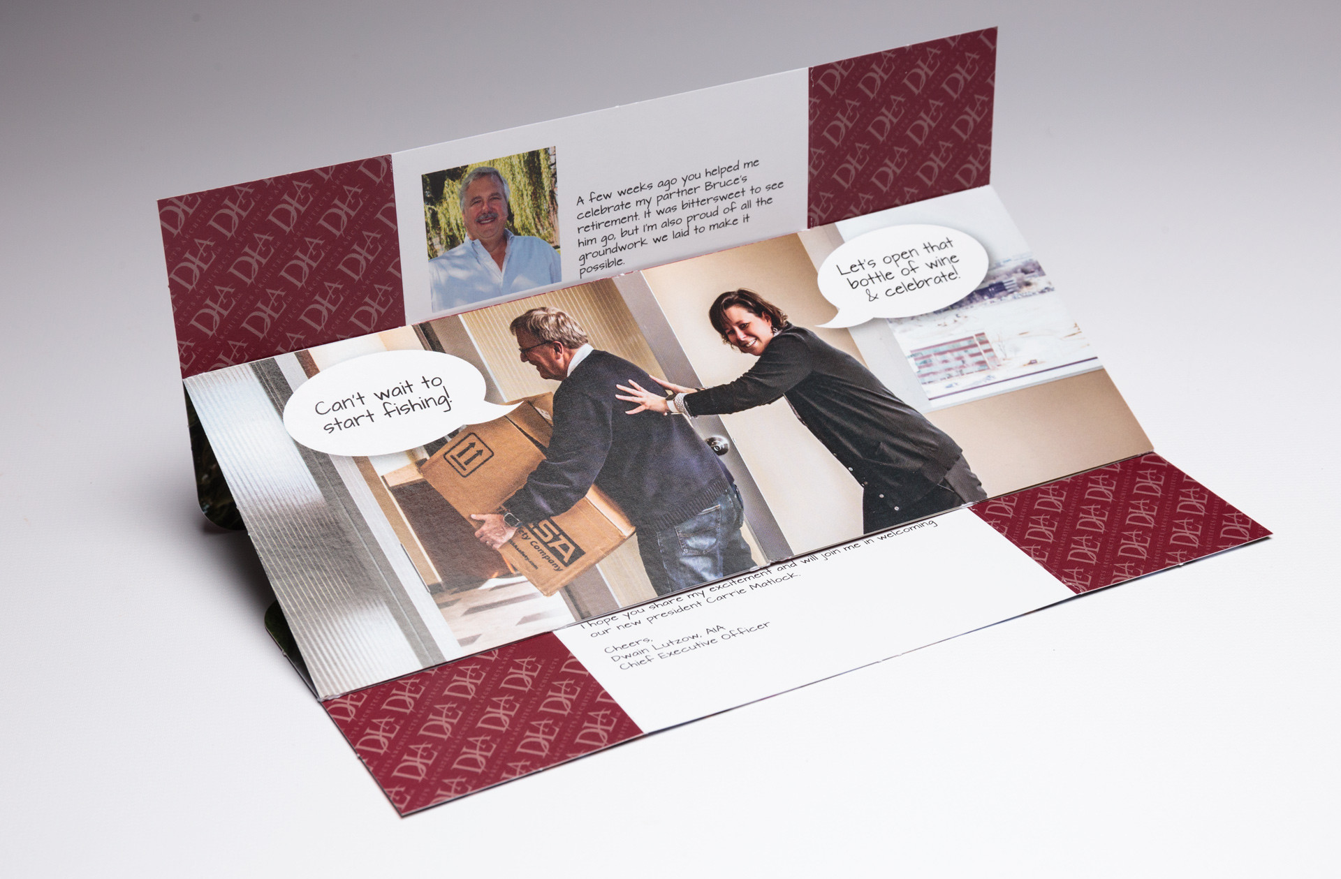 DLA Architects Spreads Big News With Tablet Flapper Mailer