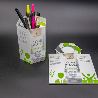 Solid State Operations used popup desktopper to showcase company's core values