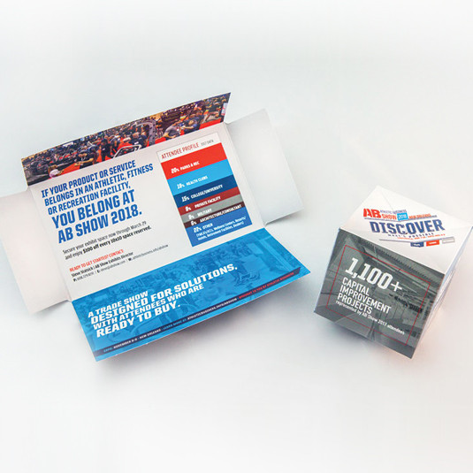 AB Media & RPP Take Home GDUSA InHouse Design Award for Trade Show Mailer