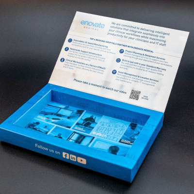 Enovate Medical used the Well Box Mailer to send promotional items and materials