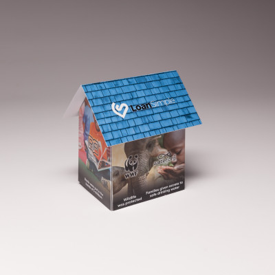 Mortgage Company Thanks Clients with the Pop Up House