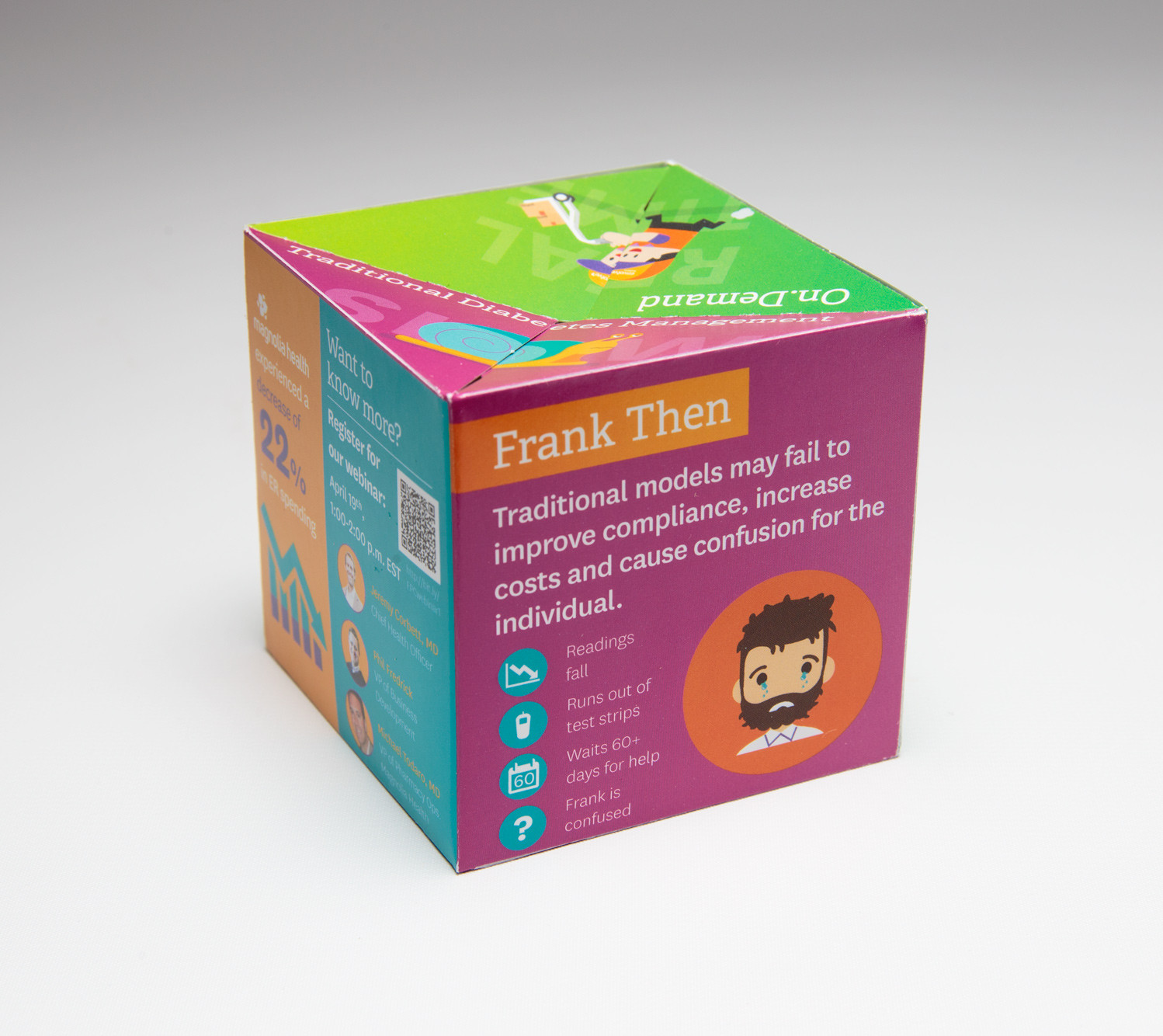 Envolve Stands Out with Interactive Pop Up Cube Mailer