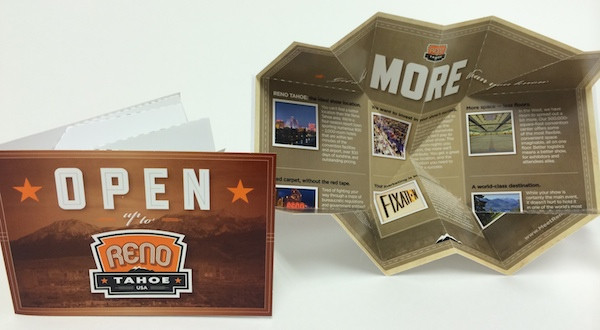 Reno Tahoe USA - Promoting Events with Creative Mailer