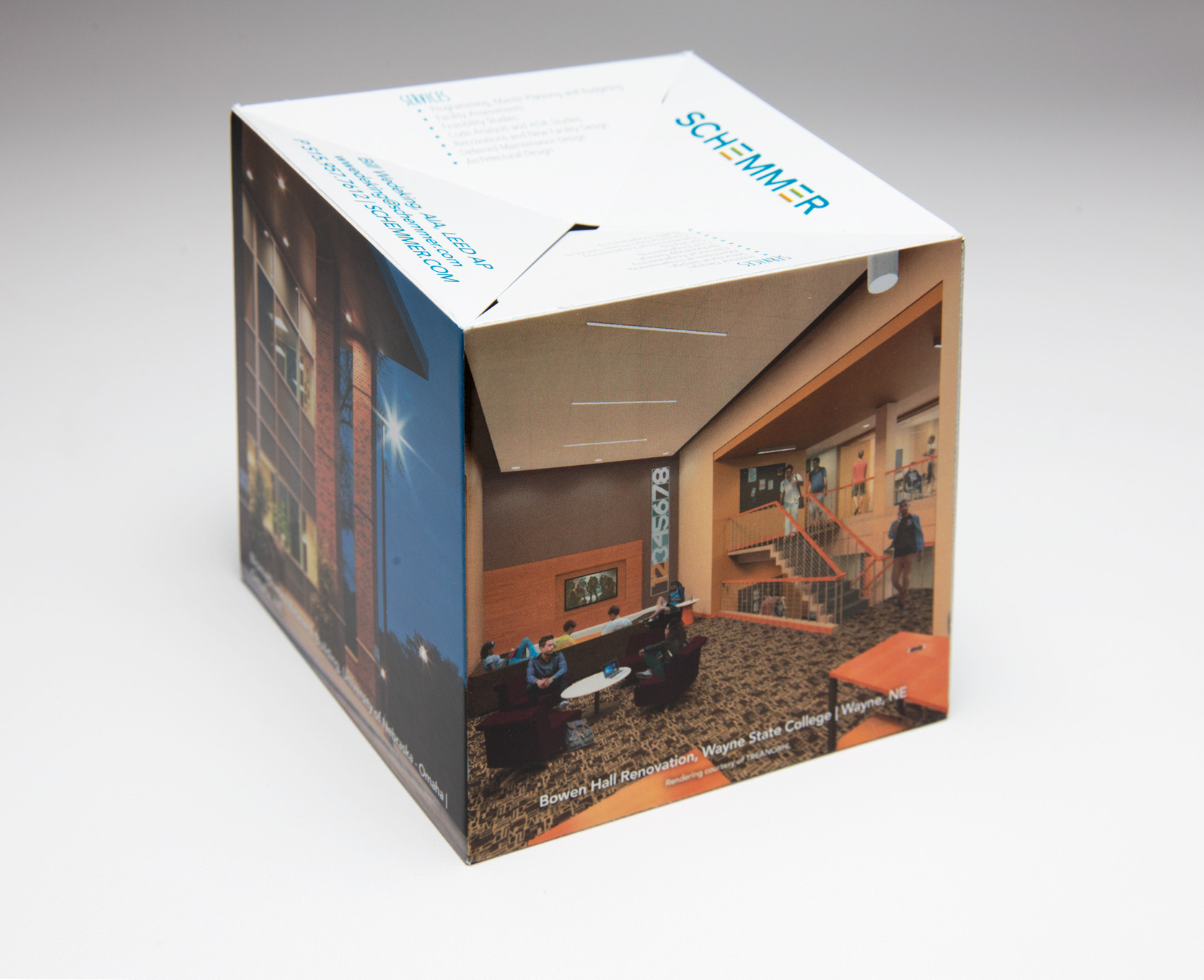 Schemmer Creates Memorable Experience With Pop-Up Cube Mailer